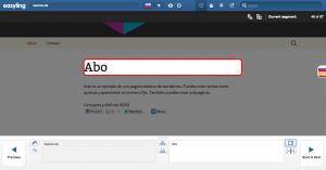Easyling - interfaz traducción diseño web